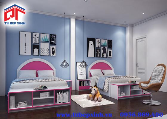 giường gỗ hồng