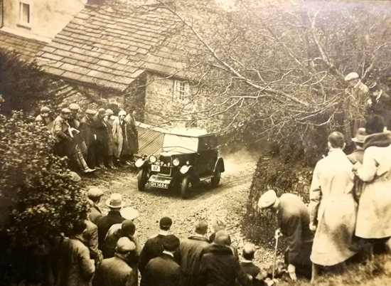 Photograph of the MCC London - Edinburgh ralley Whitsun 1931 at MIDDLE TONGUE courtesy Nikki Greenleaf