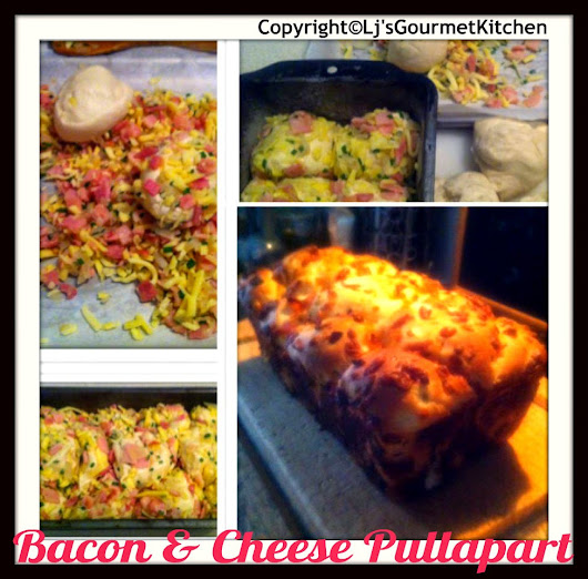Easy Bacon & Mozarella Pull Apart Bread!