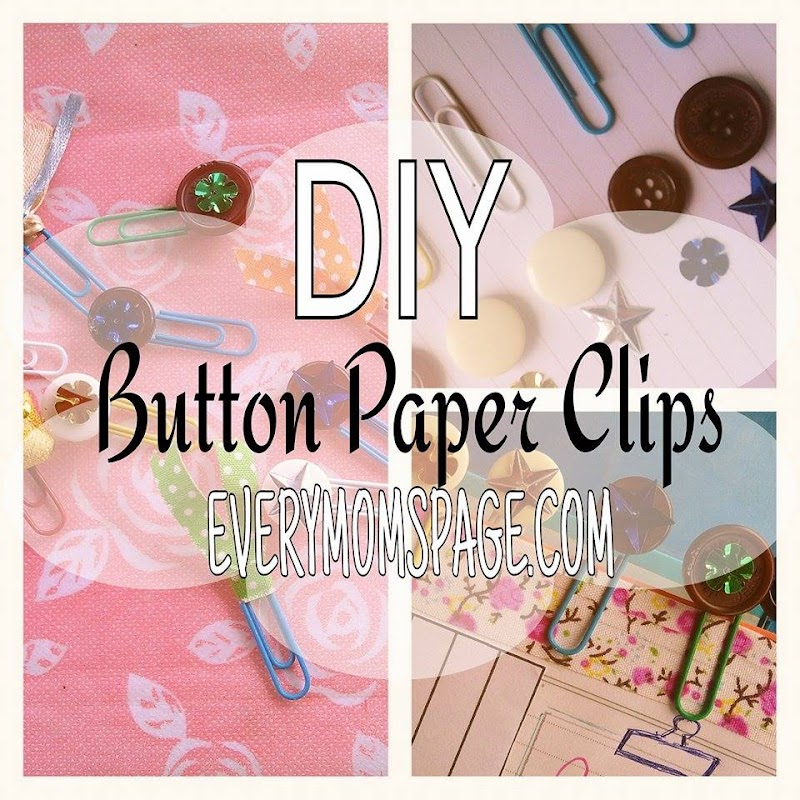 DIY: Sequined Button Paper Clips