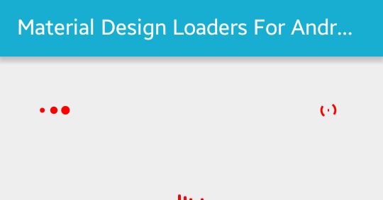 Material Design Loader Examples for Android with Source Code