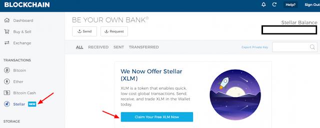 Cara dapat stellar lumens (XLM) gratis