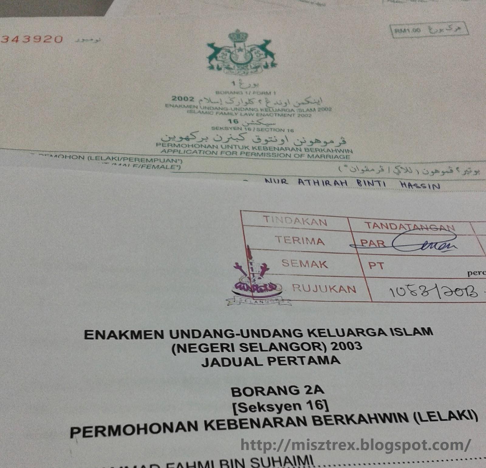 Permohonan Nikah Lelaki Selangor Dan Perempuan Kelantan Athirahassin