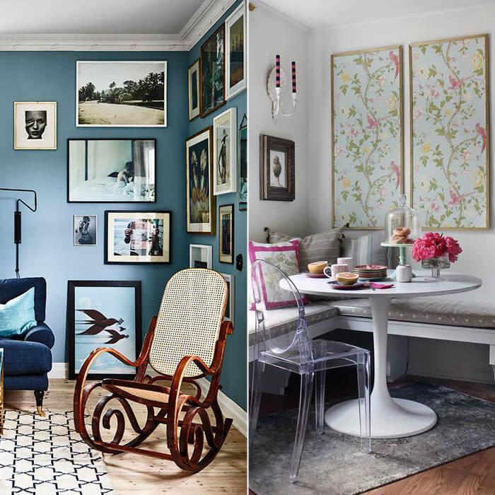 arredare l'angolo di una cucina con tavolo, sedie e panche