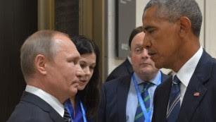 Vladimir Puti and Barack Obama