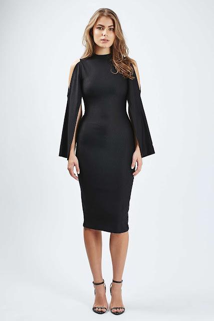 black rare cape dress,