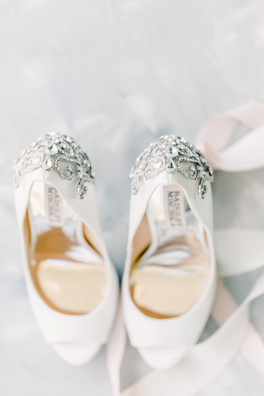 Badgley Mischka Bridal Shoes-Kiana Lodge Wedding Photography-Seattle Wedding Photographers-Something Minted