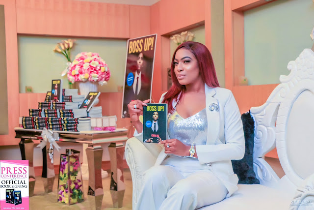 Chika Stuns in white for the Launch of her new book, Boss Up
