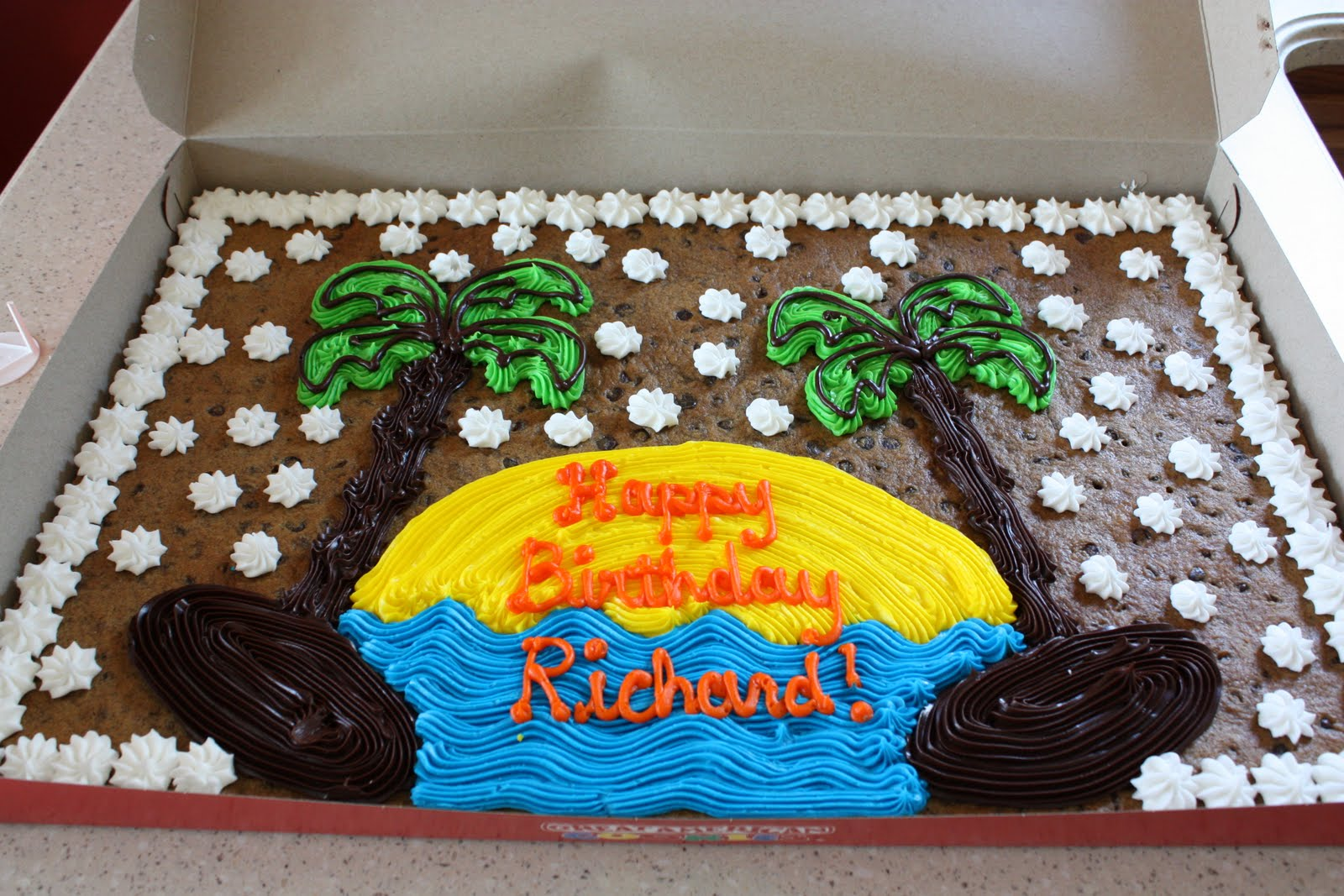 Giant Happy Birthday Cookie Cake Picture Custom The Mcfarland Family Blog 29th Richard