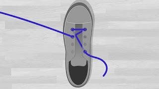 Cara Memasang Tali Sepatu Lurus ke Samping tutorial 3