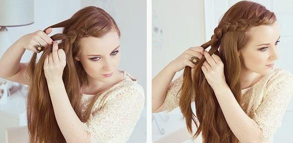Trenzas de lado para cabello largo - Recogidos de trenzas al lado ...