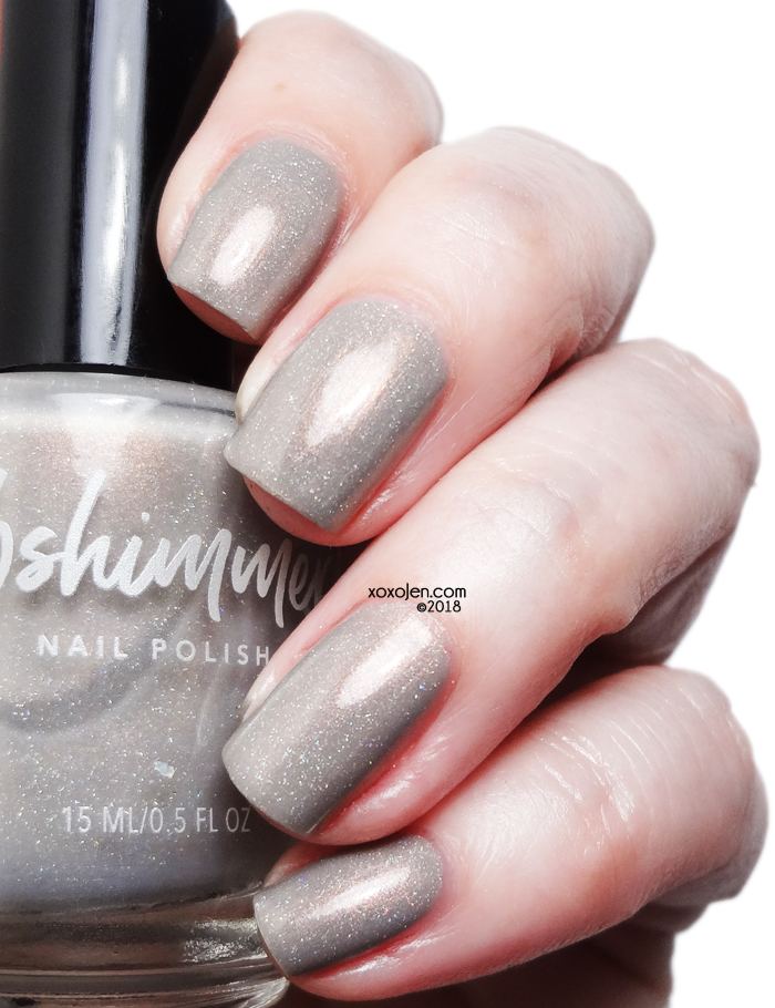 xoxoJen's swatch of KBShimmer Taupe Notch