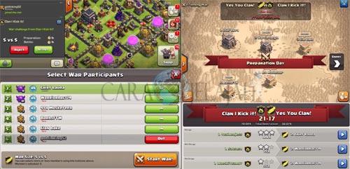 Menerima tantangan War dengan fitur Friendly War COC