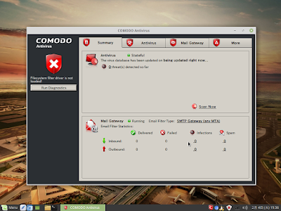 Comodo Antivirus for Linuxスクリーンショット9