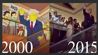 Previsão suspeita de Simpsons