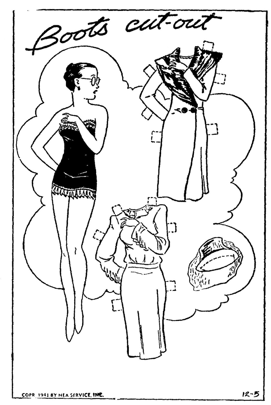 Mostly Paper Dolls Too!: FERD and CORA Comic Strip Paper