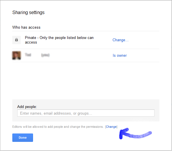 google docs how to change owner