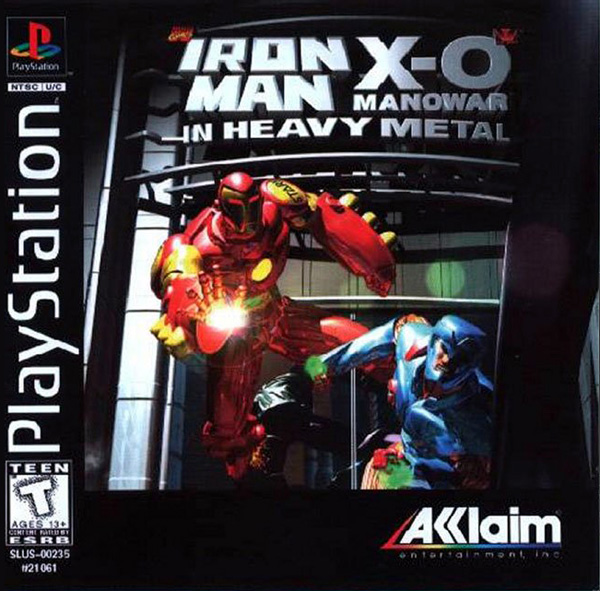 Iron man and X-O Manowar in Heavy Metal - PS1 - ISOs Download