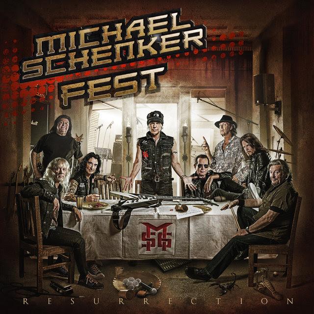 """Michael Schenker Fest - """"Resurrection"""" 2018 cover art"""