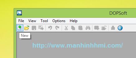 Tạo file thiết kế lập trình cho HMI Delta bằng phần mềm DOPSoft