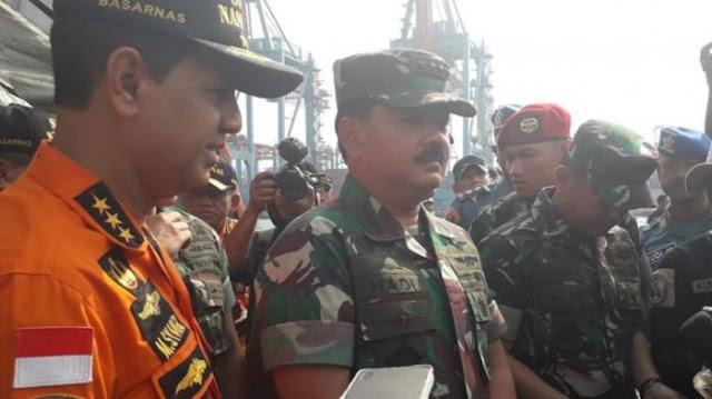Badan Pesawat Lion Air JT-610 Terdeteksi, Panglima TNI Meluncur ke Lokasi