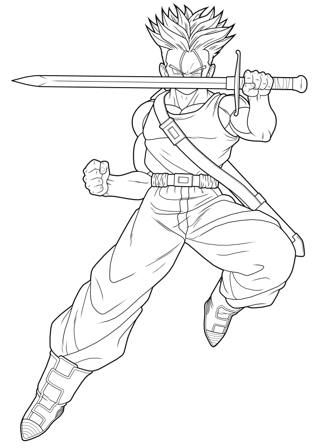 dragon ball z coloring pages trunks dbz | DIBUJOS DE DRAGON BALL Z: DIBUJOS DE DRAGON BALL PARA ...