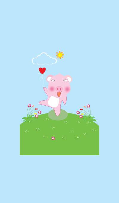 Cute pig theme v.9