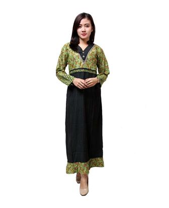 Model Baju Batik Kombinasi Polos Paling Modis