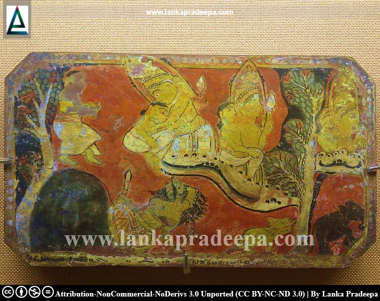 Colour paintings on wooden planks, Kandy National Museum
