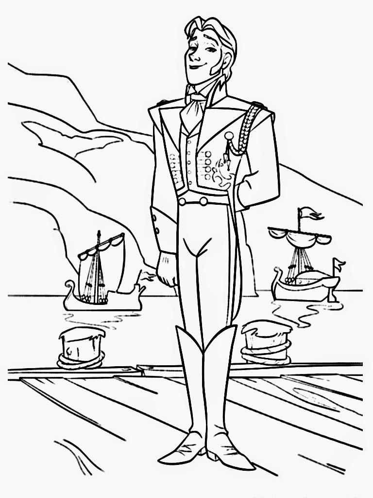 Download Free Frozen Coloring Pages Hans