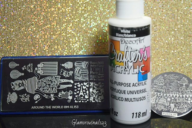 Bundle Monster BM-XL153, White Acrylic Paint, Pueen 94