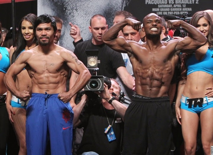 Image: Pacquiao-Bradley 2 weigh-in