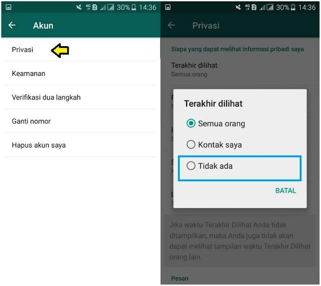 Cara Menghilangkan Status Online di WhatsApp Tutorial Menghilangkan Status Online di WhatsApp