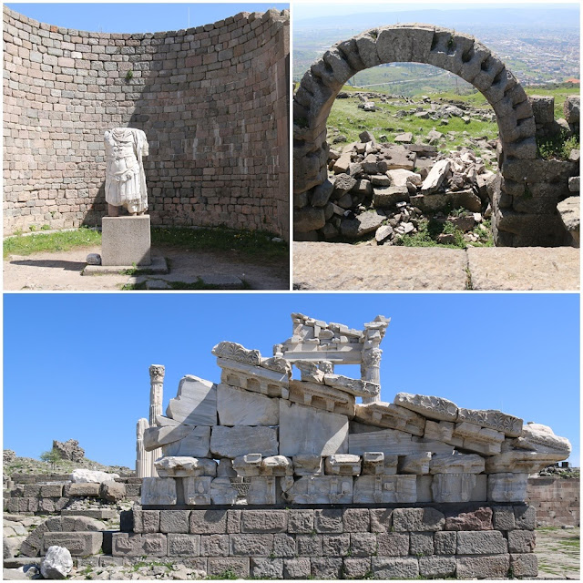 Some of the elements remaining at Pergamon city in Turkey