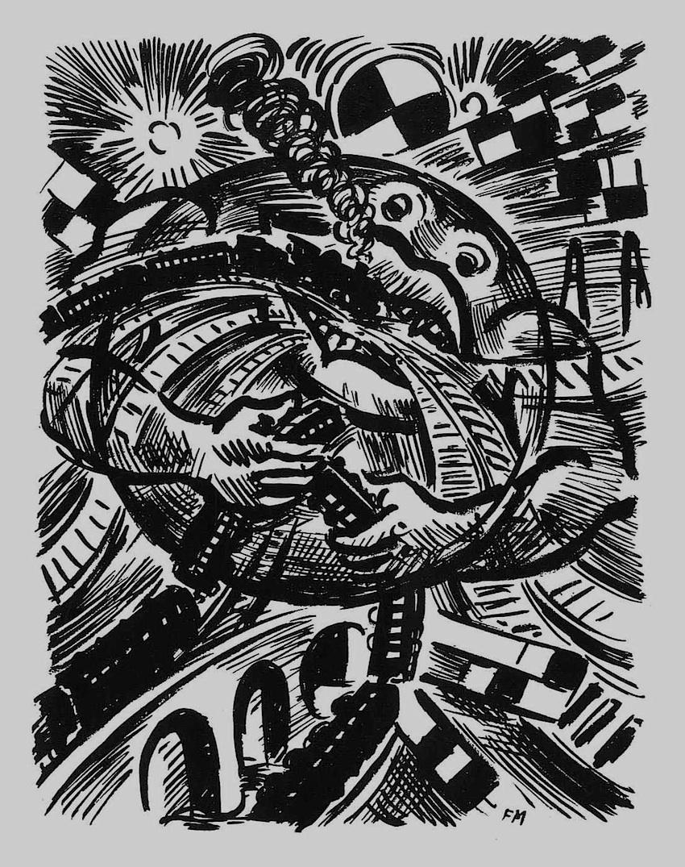 a Franz Masereel print about public transit