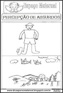 Atividade de percepções de absurdos