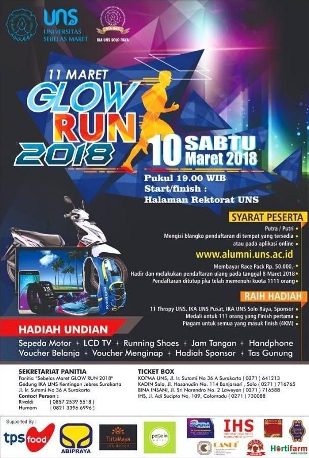 11 Maret Glow Run • 2018