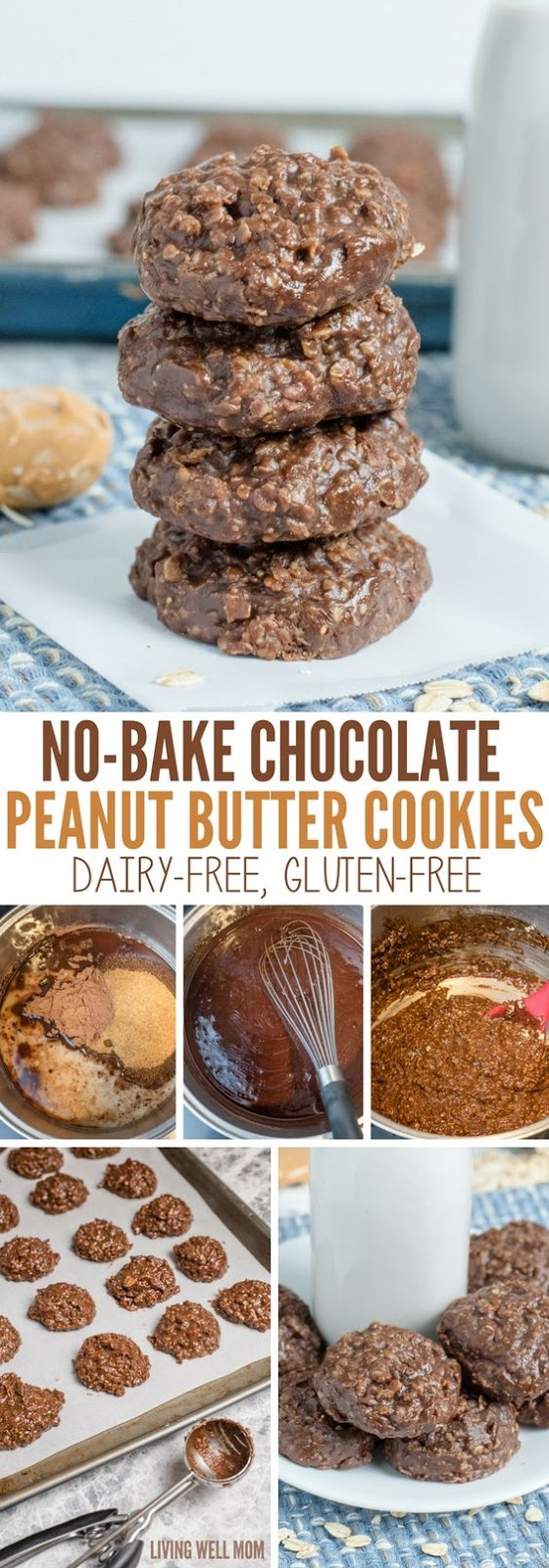 DAIRY-FREE NO-BAKE CHOCOLATE PEANUT BUTTER COOKIES