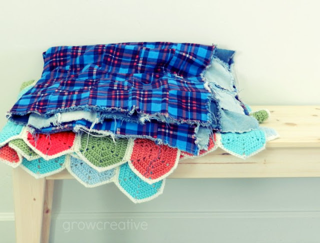 plaid and jean quilt: growcreative