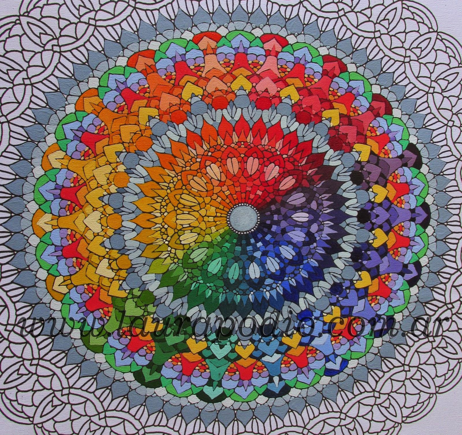 Mandalas paso a paso un ejemplo de color arte terapia - Colores para mandalas ...