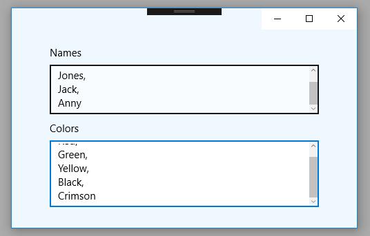 Uwp Textbox
