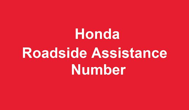 Honda Roadside Assistance Number