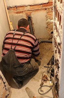 Bekir in the utility room