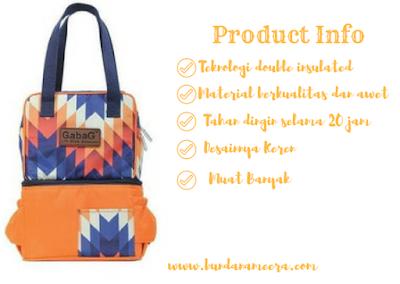 #GabagjelajahIndonesia #gabagers #tiketkemanapun, review tas asi, review cooler bag, gabag asi, cooler bag untuk ibu bekerja, cooler bag paling nyaman, tas asi paling enak, gabag tas asi