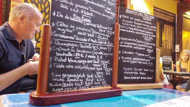 Chez Juliette- menu chalkboard