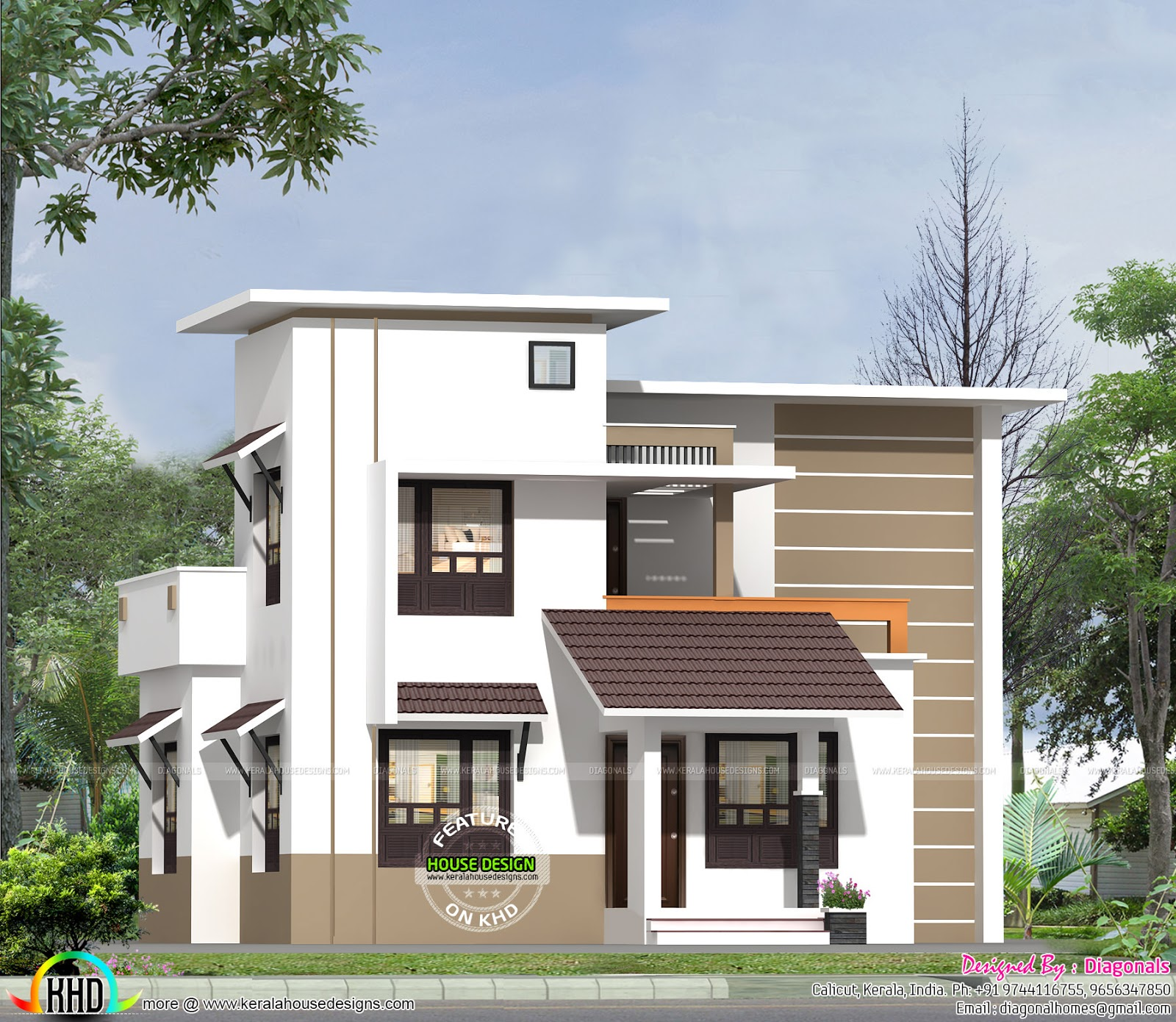 Affordable low cost home kerala home design and floor plans for In ground home designs