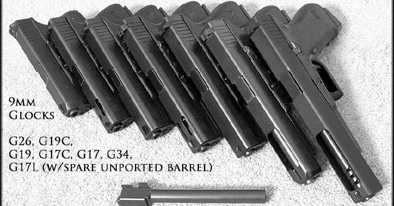 Ammo And Gun Collector Complete Collection Of 9mm Glocks
