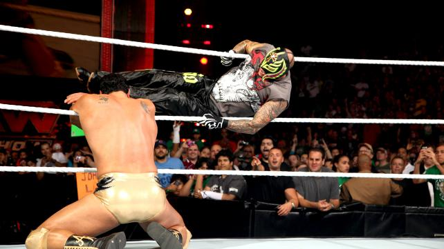 Wwe rey mysterio is back in action raw 16 07 2012 - Wwe 619 images ...