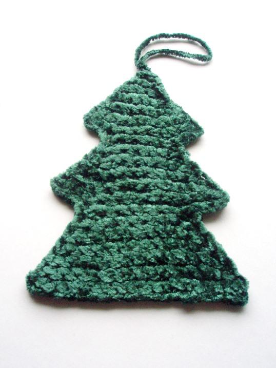 Knitting Work In Progress Christmas Tree Fecta
