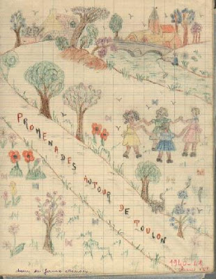 Classe promenade, école de Toulon-sur-Arroux (collection musée)